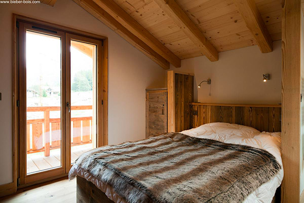Portes-fenêtres en bois – Chambre