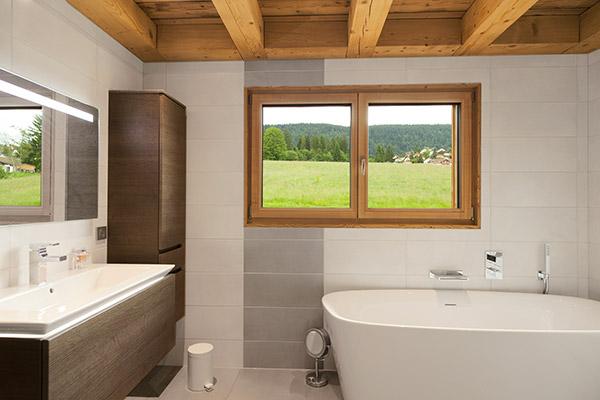 Fenêtres en bois – Salle de bains