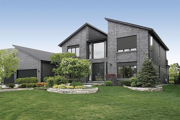 Maison aux menuiseries tout aluminium